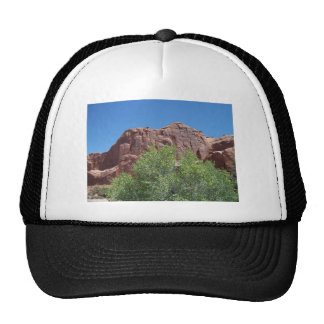 Green Bush and Red Rock Trucker Hats