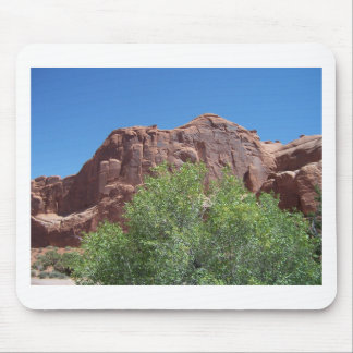 Green Bush and Red Rock Mouse Pad