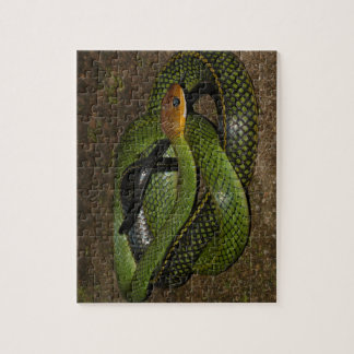 Green Bush Rat Snake Jigsaw Puzzle