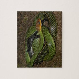 Green Bush Rat Snake Puzzle