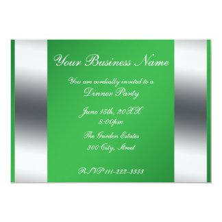 """Green Business invitation 5"""" X 7"""" Invitation Card"""