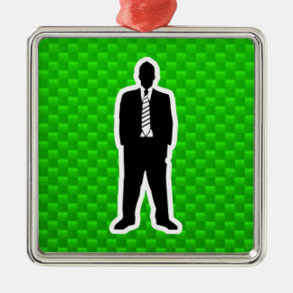 Green Business Suit Christmas Ornaments