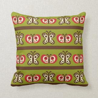 Green Butterflies and Flowers MOJO Pillow