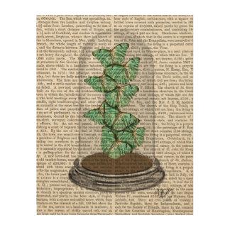 Green Butterflies in Bell Jar Wood Print
