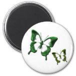Green Butterflies Magnet Magnet