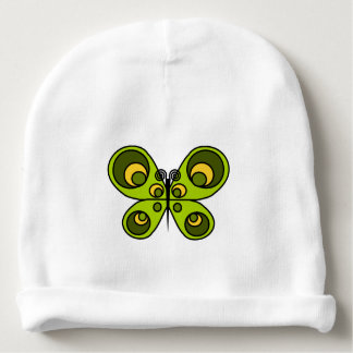Green Butterfly Baby Beanie