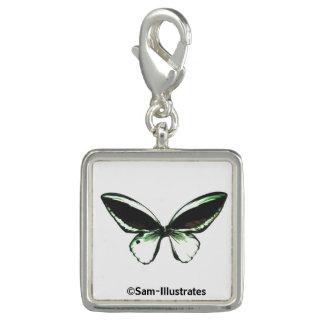 Green Butterfly Charm Bracelet Charm