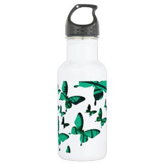 Green Butterfly Cutouts 532 Ml Water Bottle