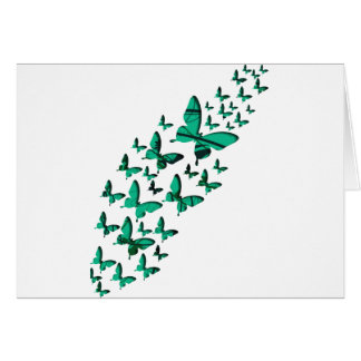 Green Butterfly Cutouts Cards