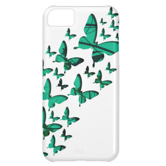 Green Butterfly Cutouts iPhone 5C Case