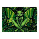 """Green Butterfly Fantasy"" Greeting Card"