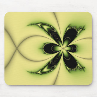 Green Butterfly Fractal Mouse Pad