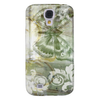 Green Butterfly Inset with Ironwork Gate Galaxy S4 Case