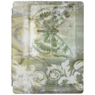 Green Butterfly Inset with Ironwork Gate iPad Cover