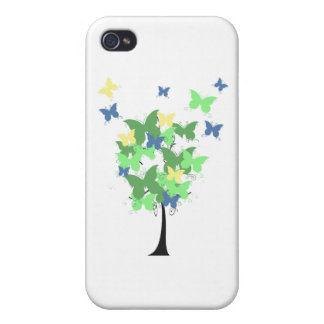 Green Butterfly Tree iPhone 4 Case