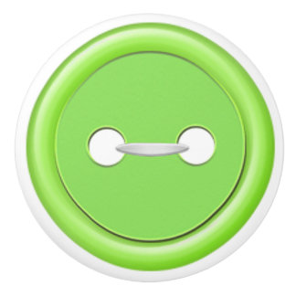 Green Button Drawer Pull