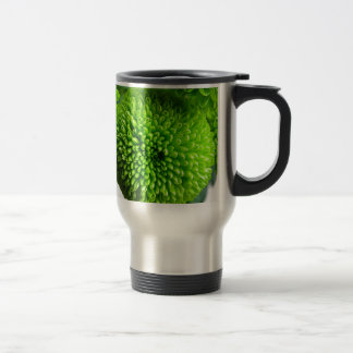 Green Button mums Travel Mug