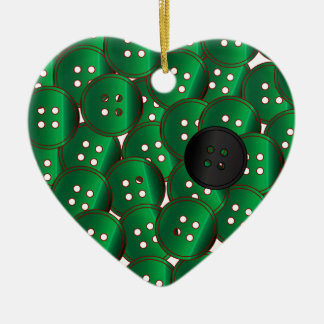 Green Buttons Christmas Ornament