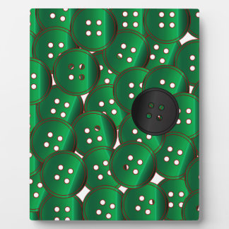 Green Buttons Display Plaques