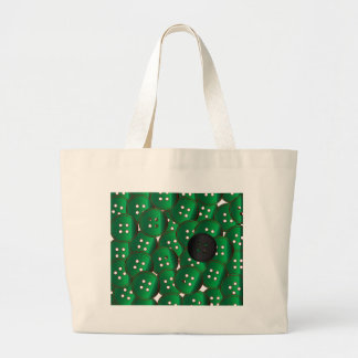 Green Buttons Large Tote Bag