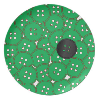 Green Buttons Party Plates