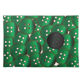 Green Buttons Placemat