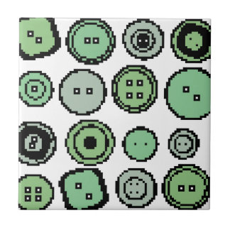green buttons small square tile