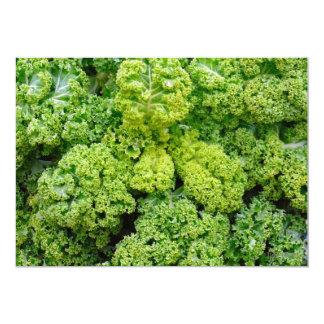 Green cabbage 13 cm x 18 cm invitation card