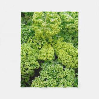 Green cabbage fleece blanket