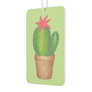 Green Cactus Flower Potted Plant Air Freshener