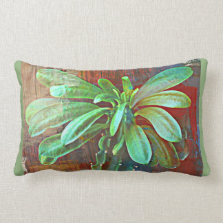 Green Cactus Plant Pillow