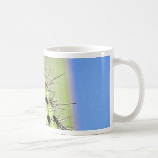 Green Cactus Thorns Mug
