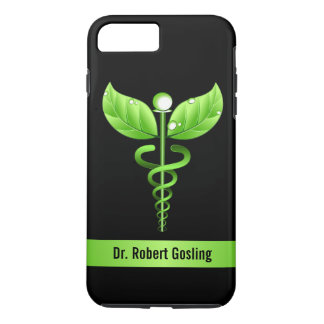 Green Caduceus Holistic Health Symbol Tough iPhone 8 Plus/7 Plus Case