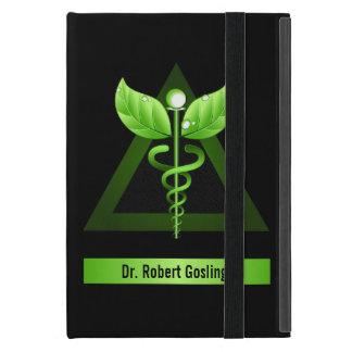 Green Caduceus Holistic iCase iPad Mini Case Cover