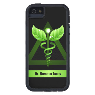 Green Caduceus Natural Therapy Icon iPhone 5 Cases