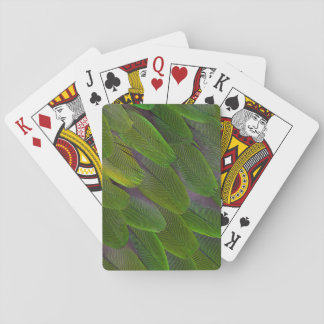 Green Caique Parrot Feather Design Playing Cards