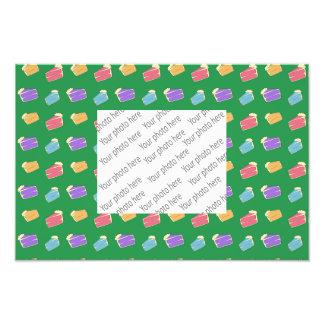Green cake pattern photo print