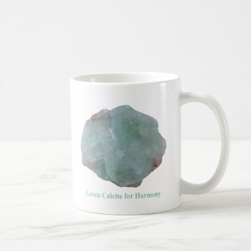 Green Calcite for Harmony by IreneDesign2011 Basic White Mug
