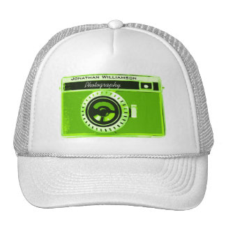 Green Camera Photography Business Cap