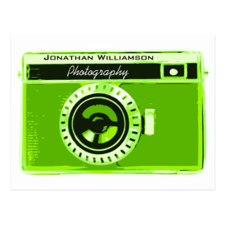 Green Camera Photography Business Post Card