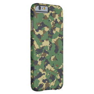 Green camo barely there iPhone 6 case