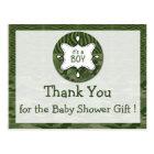 Green Camo Boy Baby Shower Thank You Postcards