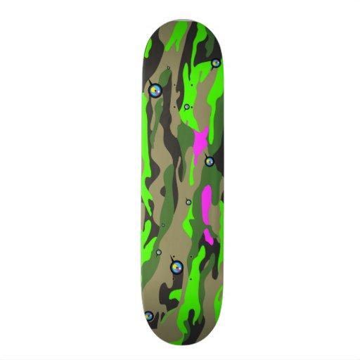 Green Camo by ilya konyukhov Custom Skateboard