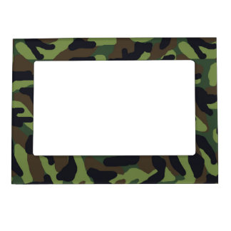 Green Camo Camouflage Frame Magnets