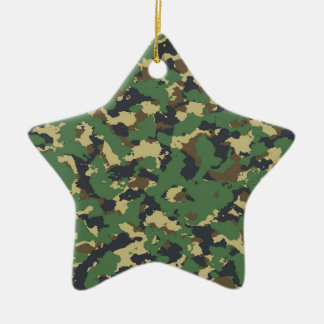 Green camo christmas ornament