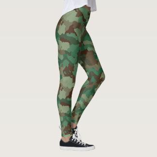 Green Camo Custom Leggings