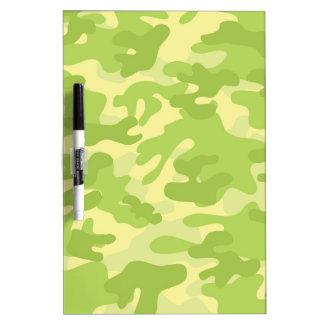 Green Camo Design Dry Erase White Board
