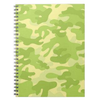 Green Camo Design Notebook