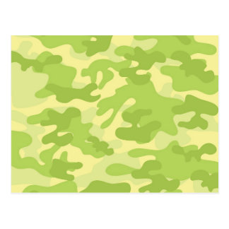 Green Camo Design Postcard