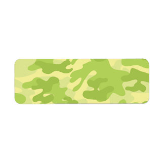 Green Camo Design Return Address Label